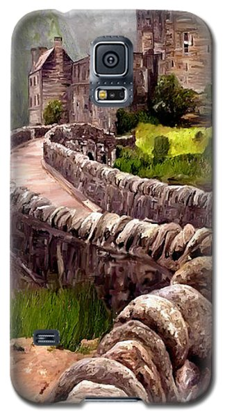 Galaxy S5 Case featuring the painting Eilean Donan Castle by James Shepherd