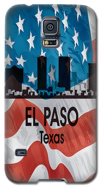 El Paso Tx American Flag Vertical Galaxy S5 Case by Angelina Vick