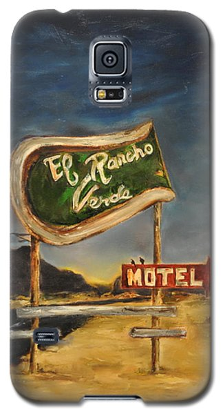 Galaxy S5 Case featuring the painting El Rancho by Lindsay Frost