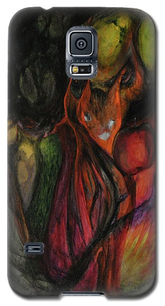 Galaxy S5 Case featuring the painting Elder Keepers by Christophe Ennis