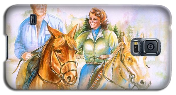 Galaxy S5 Case featuring the painting Eleanor And George by Patricia Schneider Mitchell