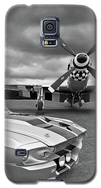 Airplane Galaxy S5 Case - Eleanor Mustang With P51 Black And White by Gill Billington