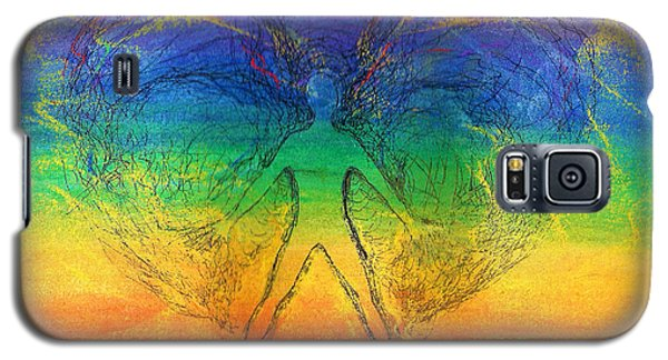 Galaxy S5 Case featuring the mixed media Electric Angel by Denise Fulmer