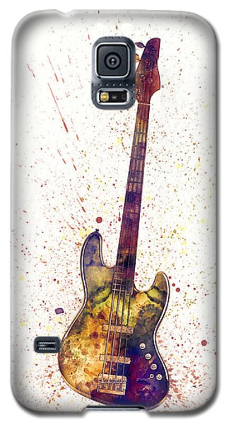 Guitar Galaxy S5 Case - Electric Bass Guitar Abstract Watercolor by Michael Tompsett