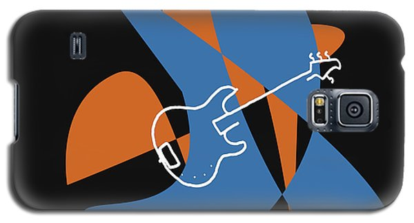 Electric Bass In Blue Galaxy S5 Case by David Bridburg