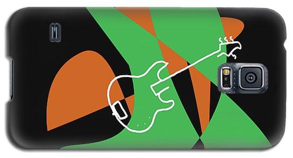 Electric Bass In Green Galaxy S5 Case by David Bridburg