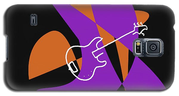 Electric Bass In Purple Galaxy S5 Case by David Bridburg