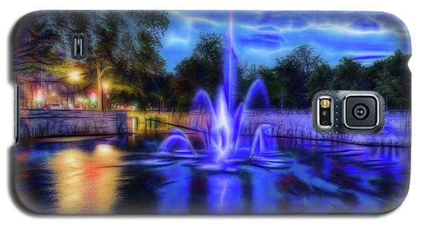Galaxy S5 Case featuring the photograph Electric Fountain  by Scott Carruthers