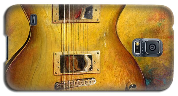 Galaxy S5 Case featuring the painting Electric Gold by Andrew King