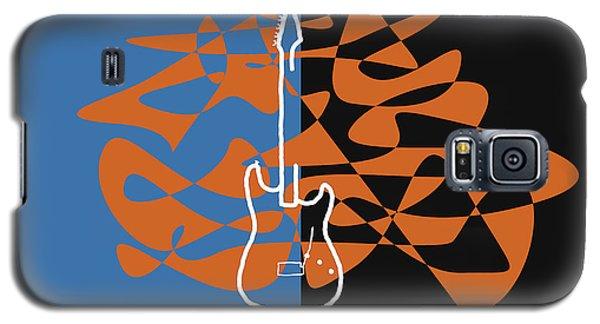 Electric Guitar In Blue Galaxy S5 Case by David Bridburg