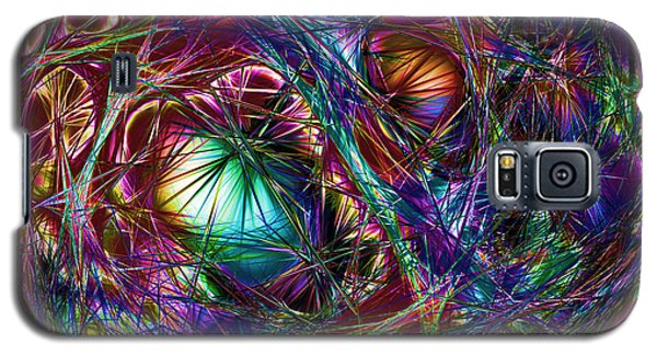 Electric Neon Abstract Galaxy S5 Case
