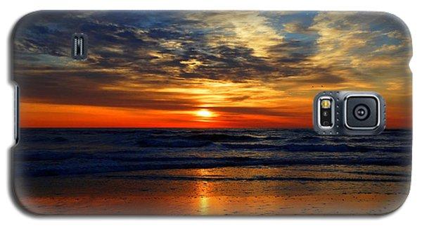 Electric Golden Ocean Sunrise Galaxy S5 Case