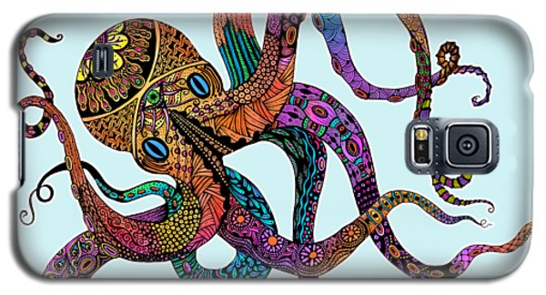 Electric Octopus - Customizable Background Galaxy S5 Case