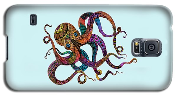 Electric Octopus - Customizable Background Galaxy S5 Case by Tammy Wetzel