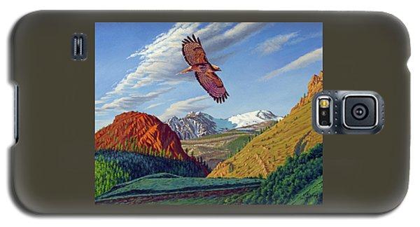 Hawk Galaxy S5 Case - Electric Peak With Hawk by Paul Krapf