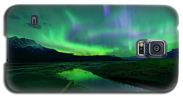 Electric Skies Over Jasper National Park Galaxy S5 Case