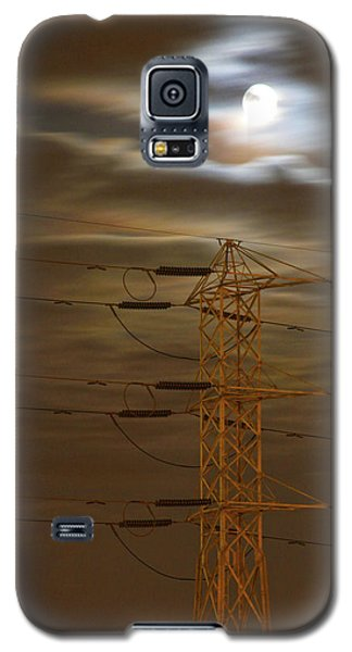 Electric Tower Under Supermoon Galaxy S5 Case
