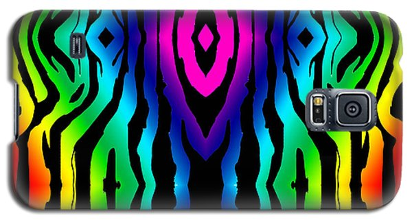 Electric Zebra Black Galaxy S5 Case