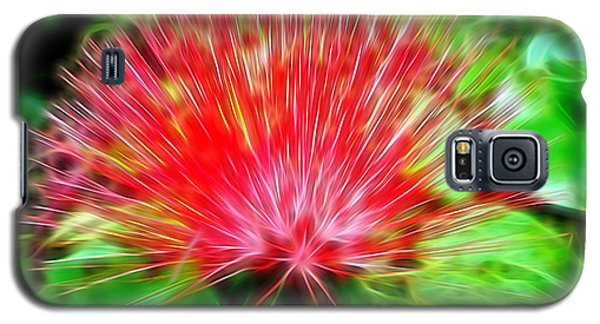 Electrified Neon Red Fan Galaxy S5 Case by Sue Melvin