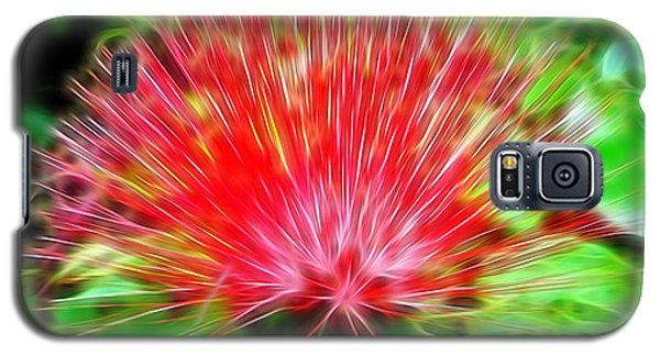 Electrified Neon Red Fan Galaxy S5 Case