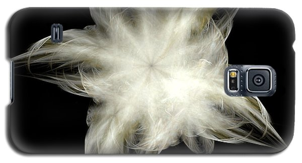 Galaxy S5 Case featuring the digital art Elegant White Feathers by Richard Ortolano