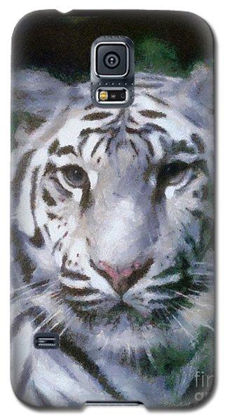 Elegant White Tiger Galaxy S5 Case
