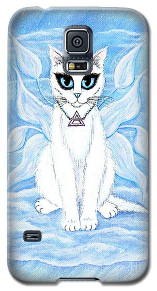 Elemental Air Fairy Cat Galaxy S5 Case by Carrie Hawks