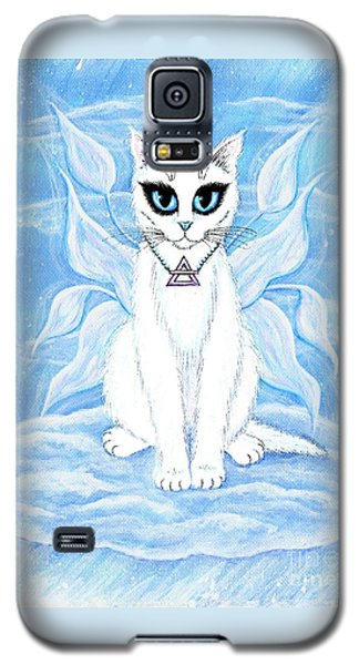 Galaxy S5 Case featuring the painting Elemental Air Fairy Cat by Carrie Hawks