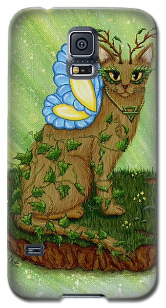 Elemental Earth Fairy Cat Galaxy S5 Case by Carrie Hawks