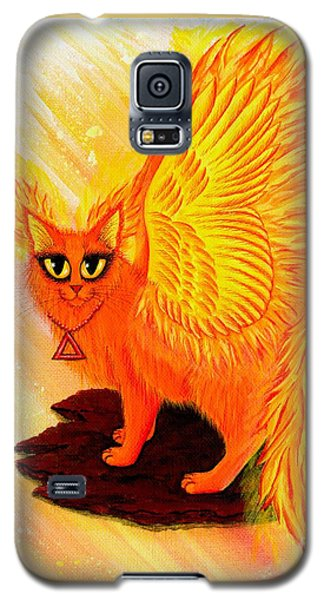 Elemental Fire Fairy Cat Galaxy S5 Case by Carrie Hawks