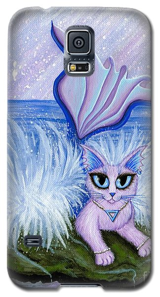 Galaxy S5 Case featuring the painting Elemental Water Mermaid Cat by Carrie Hawks