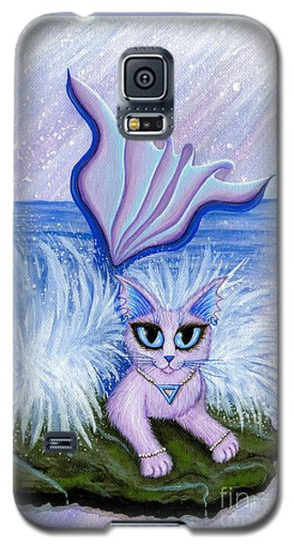Elemental Water Mermaid Cat Galaxy S5 Case by Carrie Hawks