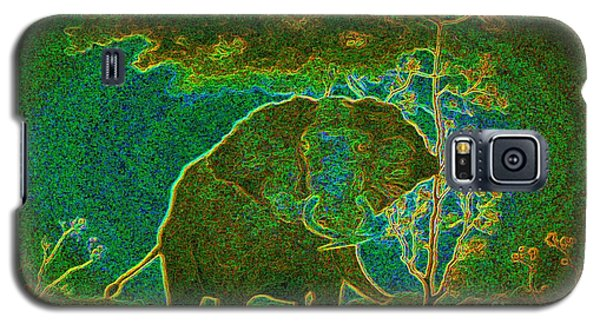 Galaxy S5 Case featuring the painting Elephant Abstract by John Stuart Webbstock