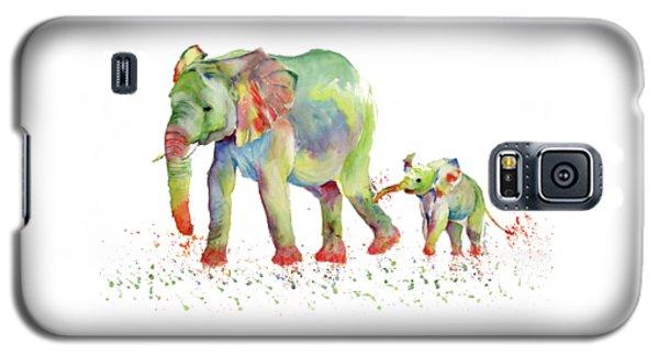 Elephant Family Watercolor  Galaxy S5 Case