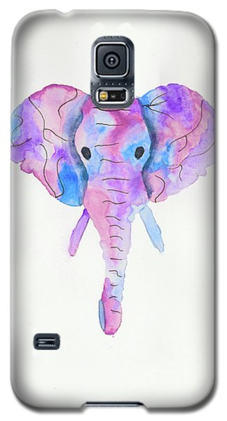 Elephant Head In Watercolour  Galaxy S5 Case