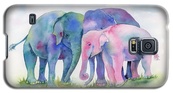 Elephant Hug Galaxy S5 Case by Amy Kirkpatrick