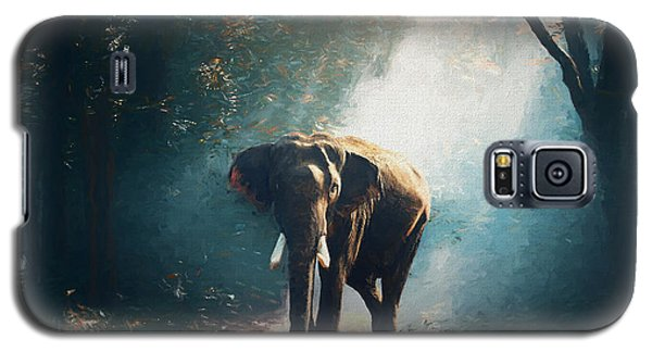 Elephant In The Mist - Painting Galaxy S5 Case