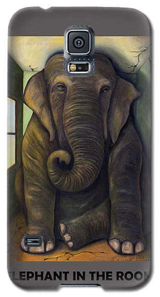 Elephant In The Room With Lettering Galaxy S5 Case