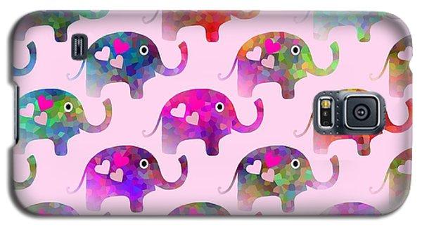 Elephant Party Galaxy S5 Case by Kathleen Sartoris