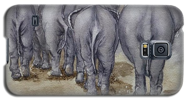 Elephants Leaving...no Butts About It Galaxy S5 Case