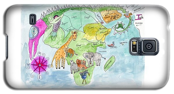 Elephoot's Map Of Africa Galaxy S5 Case