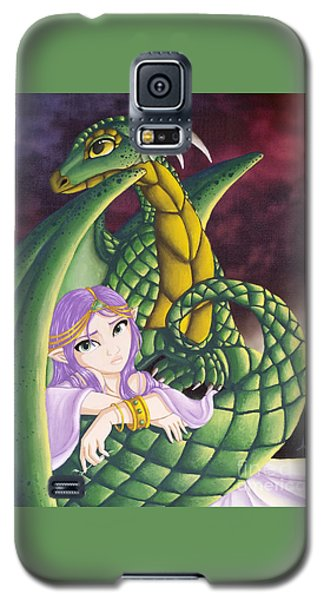 Elf Girl And Dragon Galaxy S5 Case