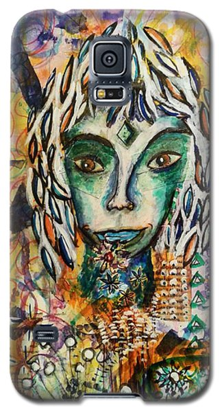 Galaxy S5 Case featuring the mixed media Elf by Mimulux patricia no No