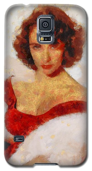 Elizabeth Taylor Actress Galaxy S5 Case by Esoterica Art Agency
