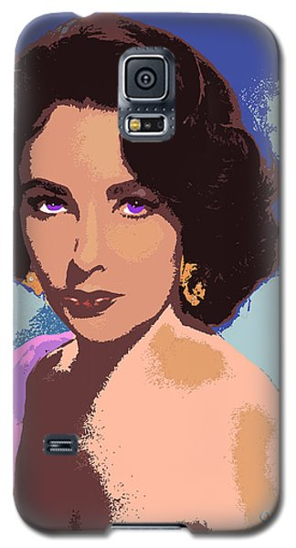 Galaxy S5 Case featuring the painting Elizabeth Taylor by John Keaton
