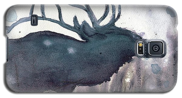 Galaxy S5 Case featuring the painting Elk by Dawn Derman