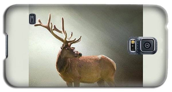 Galaxy S5 Case featuring the photograph Elk In Suns Rays by David and Carol Kelly