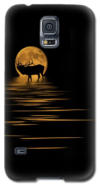 Elk In The Moonlight Galaxy S5 Case by Shane Bechler