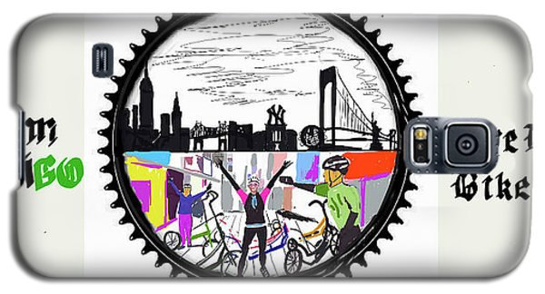 elliptiGO meets the 5 boros bike tour Galaxy S5 Case