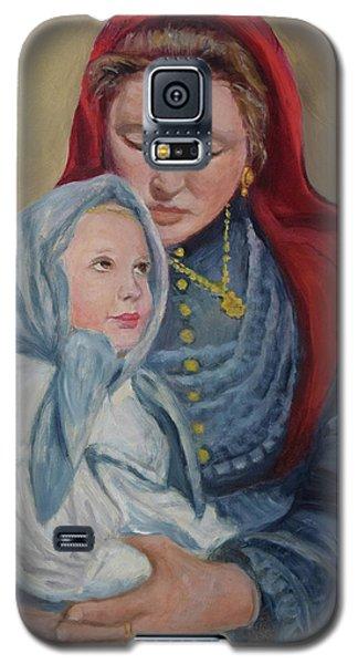 Galaxy S5 Case featuring the painting Ellis Island Madonna by Sandra Nardone